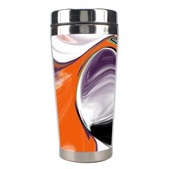 Abstract Orb In Orange, Purple, Green, And Black Stainless Steel Travel Tumblers by digitaldivadesigns