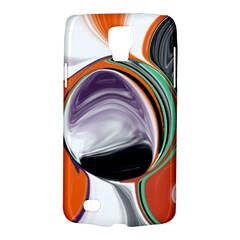 Abstract Orb In Orange, Purple, Green, And Black Galaxy S4 Active by digitaldivadesigns