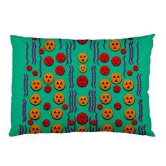 Pumkins Dancing In The Season Pop Art Pillow Case (two Sides) by pepitasart