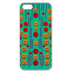 Pumkins Dancing In The Season Pop Art Apple Seamless Iphone 5 Case (clear) by pepitasart
