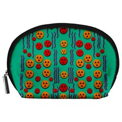 Pumkins Dancing In The Season Pop Art Accessory Pouches (large)  by pepitasart