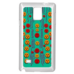 Pumkins Dancing In The Season Pop Art Samsung Galaxy Note 4 Case (white) by pepitasart