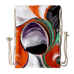 Abstract Orb Drawstring Bag (large) by digitaldivadesigns