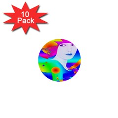 Abstract Color Dream 1  Mini Buttons (10 Pack)  by icarusismartdesigns