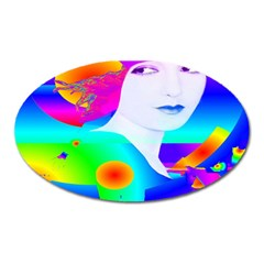 Abstract Color Dream Oval Magnet