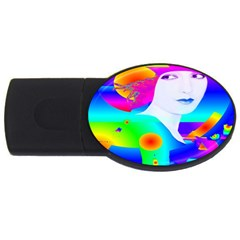 Abstract Color Dream Usb Flash Drive Oval (2 Gb)  by icarusismartdesigns