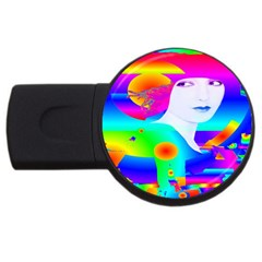 Abstract Color Dream Usb Flash Drive Round (4 Gb)  by icarusismartdesigns