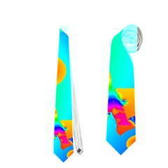 Abstract Color Dream Neckties (one Side)  by icarusismartdesigns