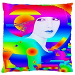 Abstract Color Dream Large Flano Cushion Case (One Side) Front