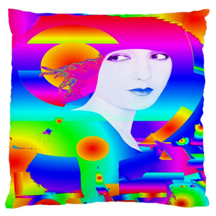 Abstract Color Dream Large Flano Cushion Case (One Side)