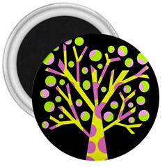 Simple Colorful Tree 3  Magnets by Valentinaart