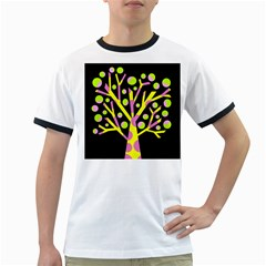 Simple Colorful Tree Ringer T Shirts