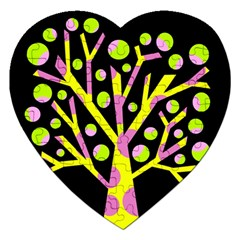 Simple Colorful Tree Jigsaw Puzzle (heart) by Valentinaart