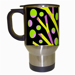 Simple Colorful Tree Travel Mugs (white) by Valentinaart