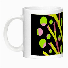 Simple Colorful Tree Night Luminous Mugs by Valentinaart