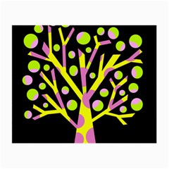 Simple Colorful Tree Small Glasses Cloth by Valentinaart