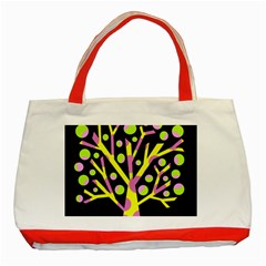 Simple Colorful Tree Classic Tote Bag (red) by Valentinaart