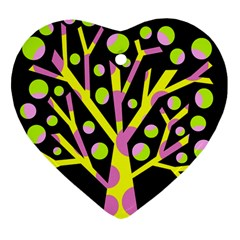 Simple Colorful Tree Heart Ornament (2 Sides) by Valentinaart