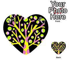 Simple Colorful Tree Playing Cards 54 (heart)  by Valentinaart