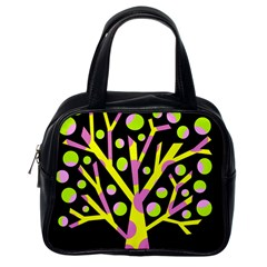 Simple Colorful Tree Classic Handbags (one Side) by Valentinaart