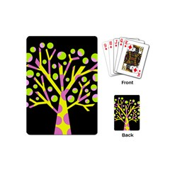 Simple Colorful Tree Playing Cards (mini)  by Valentinaart