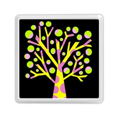 Simple Colorful Tree Memory Card Reader (square)  by Valentinaart