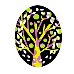 Simple Colorful Tree Ornament (oval Filigree)  by Valentinaart