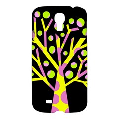 Simple Colorful Tree Samsung Galaxy S4 I9500/i9505 Hardshell Case by Valentinaart