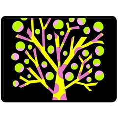 Simple Colorful Tree Double Sided Fleece Blanket (large)  by Valentinaart