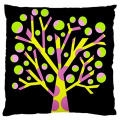 Simple Colorful Tree Large Flano Cushion Case (two Sides) by Valentinaart