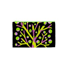 Simple Colorful Tree Cosmetic Bag (xs) by Valentinaart