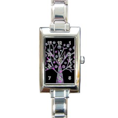 Purple Magical Tree Rectangle Italian Charm Watch by Valentinaart