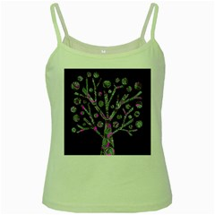 Purple Magical Tree Green Spaghetti Tank by Valentinaart