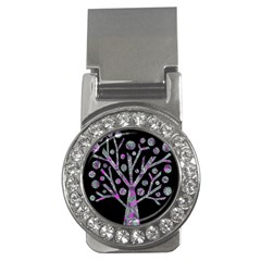Purple Magical Tree Money Clips (cz)  by Valentinaart
