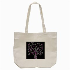 Purple Magical Tree Tote Bag (cream) by Valentinaart
