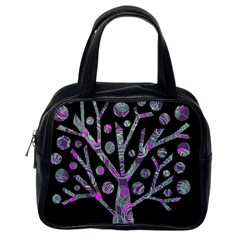 Purple Magical Tree Classic Handbags (one Side) by Valentinaart