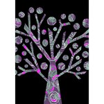 Purple magical tree Birthday Cake 3D Greeting Card (7x5) Inside