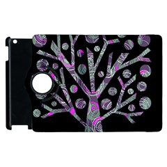 Purple Magical Tree Apple Ipad 2 Flip 360 Case by Valentinaart