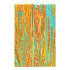 Beautiful Abstract In Orange, Aqua, Gold Shower Curtain 48  X 72  (small)  by digitaldivadesigns