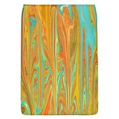 Beautiful Abstract In Orange, Aqua, Gold Flap Covers (l)