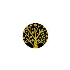 Yellow Magical Tree 1  Mini Buttons by Valentinaart