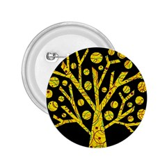 Yellow Magical Tree 2 25  Buttons by Valentinaart