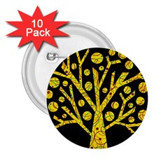 Yellow Magical Tree 2 25  Buttons (10 Pack)  by Valentinaart
