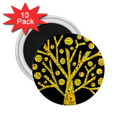 Yellow Magical Tree 2 25  Magnets (10 Pack)  by Valentinaart