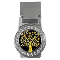 Yellow Magical Tree Money Clips (cz)  by Valentinaart