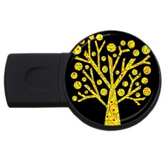 Yellow Magical Tree Usb Flash Drive Round (4 Gb)  by Valentinaart