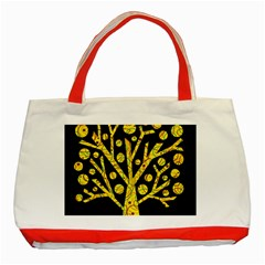 Yellow Magical Tree Classic Tote Bag (red) by Valentinaart