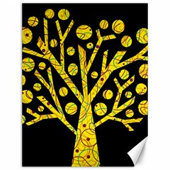 Yellow Magical Tree Canvas 12  X 16   by Valentinaart