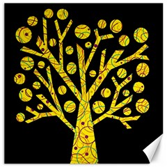 Yellow Magical Tree Canvas 20  X 20   by Valentinaart