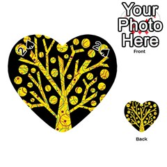 Yellow Magical Tree Playing Cards 54 (heart)  by Valentinaart